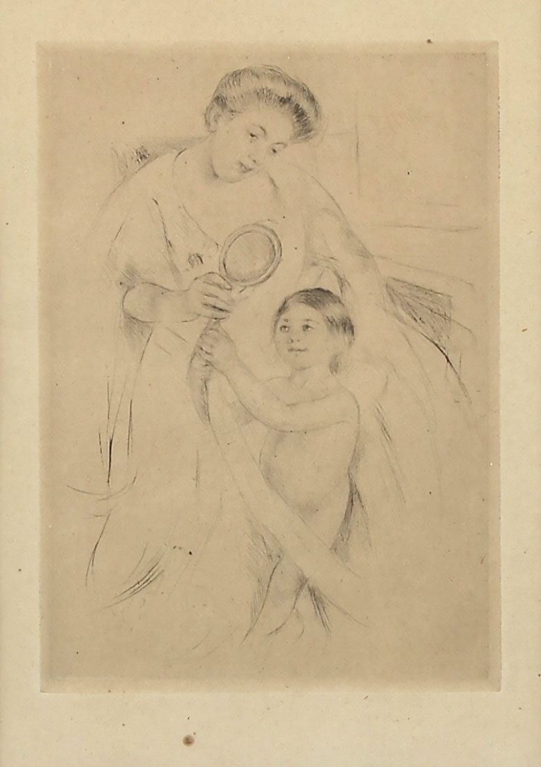 MARY CASSAT ETCHING AFTER THE BATH