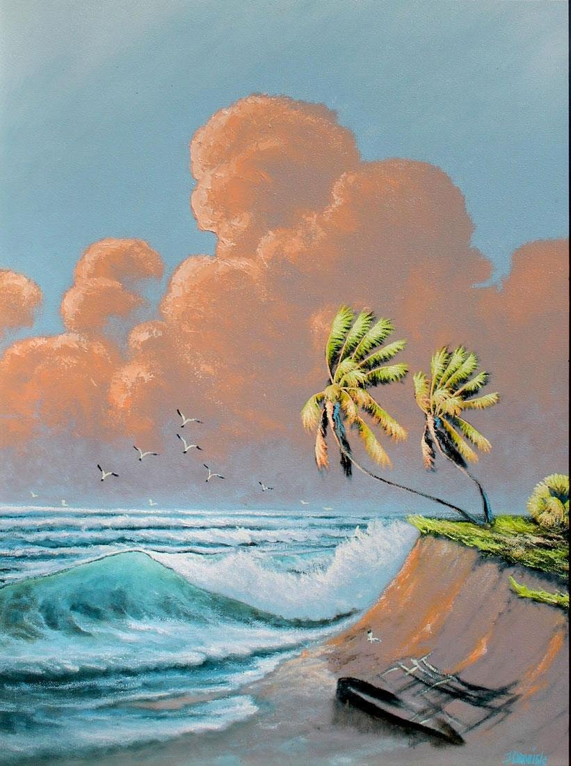 JOHNNY DANIELS FLORIDA HIGHWAYMEN PAINTING