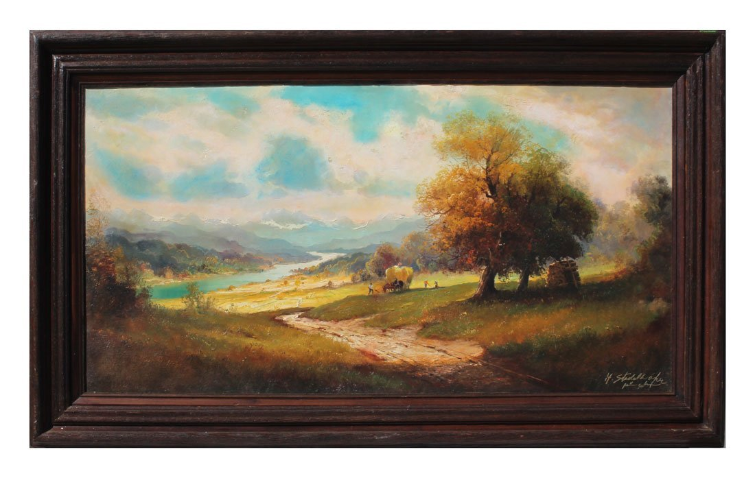 STADELHOFER PANORAMIC RIVER VALLEY PAINTING - 2
