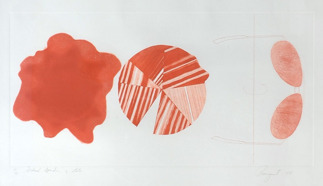 """JAMES ROSENQUIST ETCHING """"FEDERAL SPENDING"""""""
