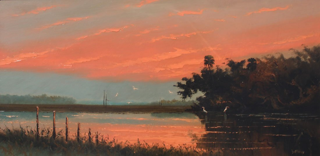 IMPRESSIVE NEWTON FIRE SKY HIGHWAYMEN PAINTING