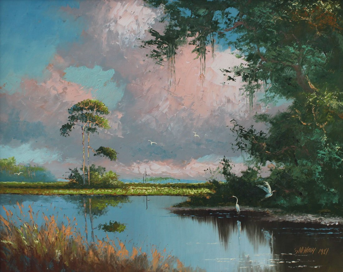 SAM NEWTON FLORIDA HIGHWAYMEN PAINTING