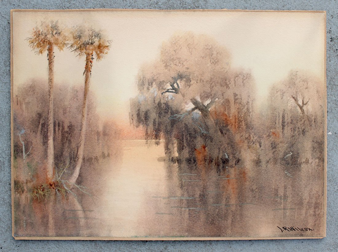 J. R. WILCOX FLORIDA RIVER PAINTING