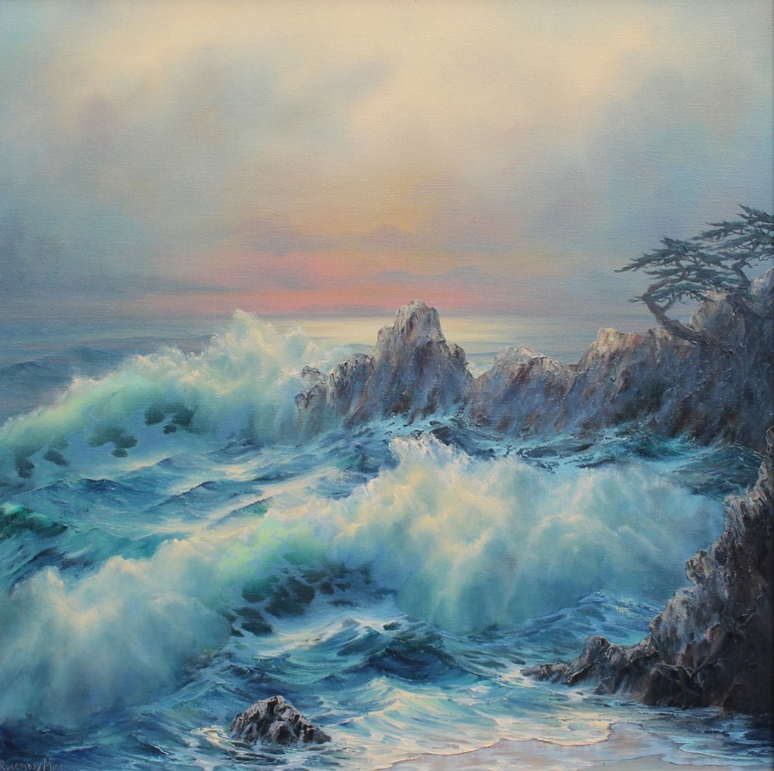 ROSEMARY MINER CALIFORNIA COAST PAINTING