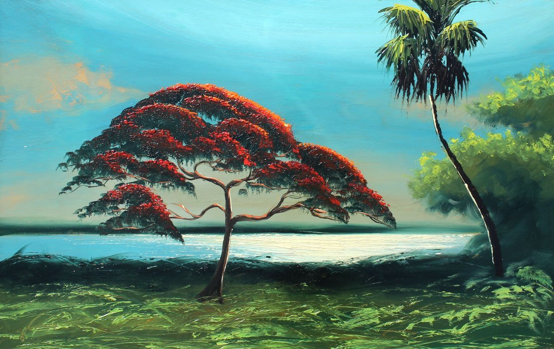 ALFRED HAIR POINCIANA FLORIDA HIGHWAYMEN PAINTING