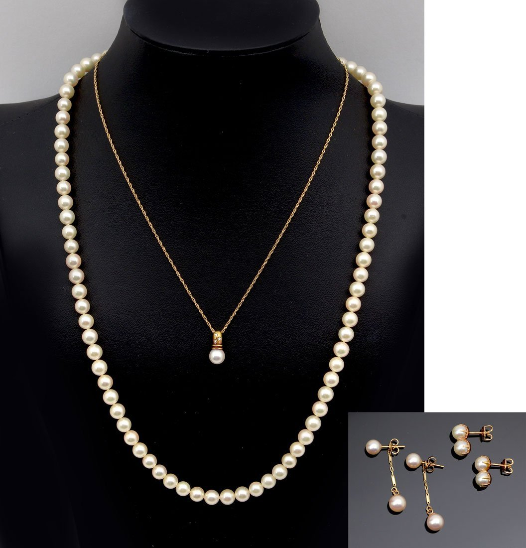 5 PC. CULTURED PEARL LOT BY MIKIMOTO