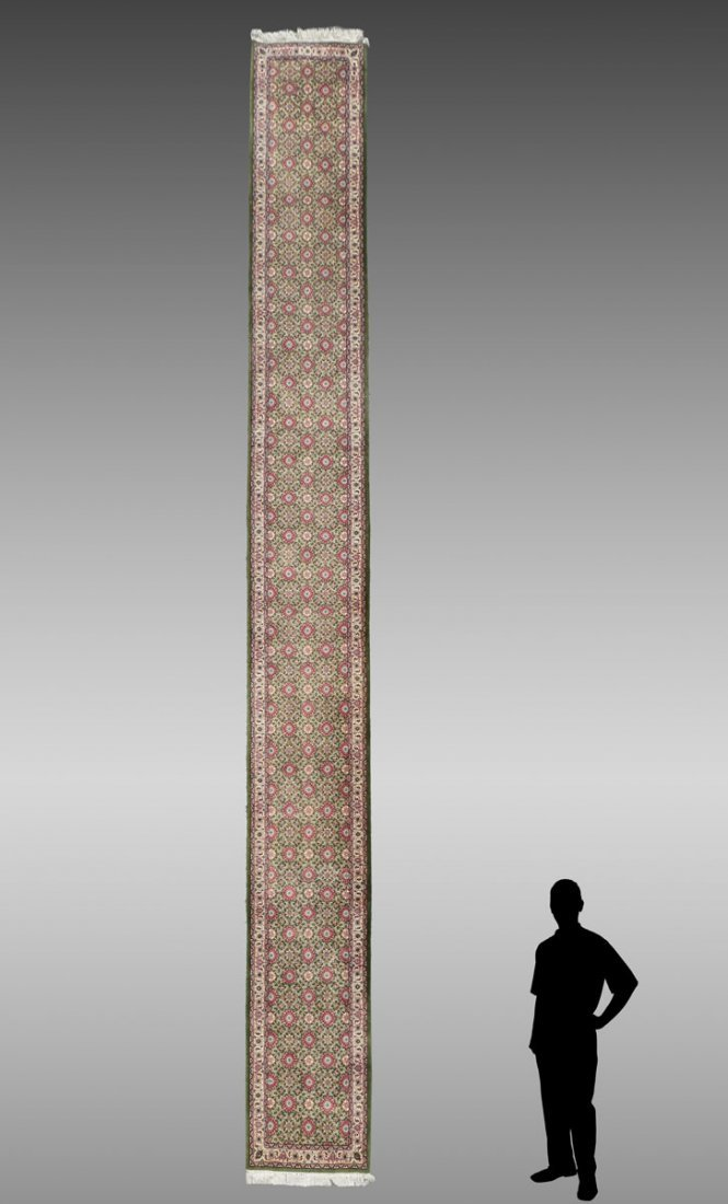"INDO-PERSIAN HK WOOL RUNNER, 2'7"" X 21'11"""