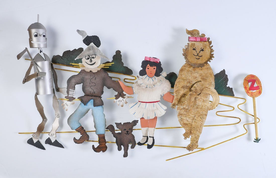 CURTIS JERE WIZARD OF OZ WALL SCULPTURE