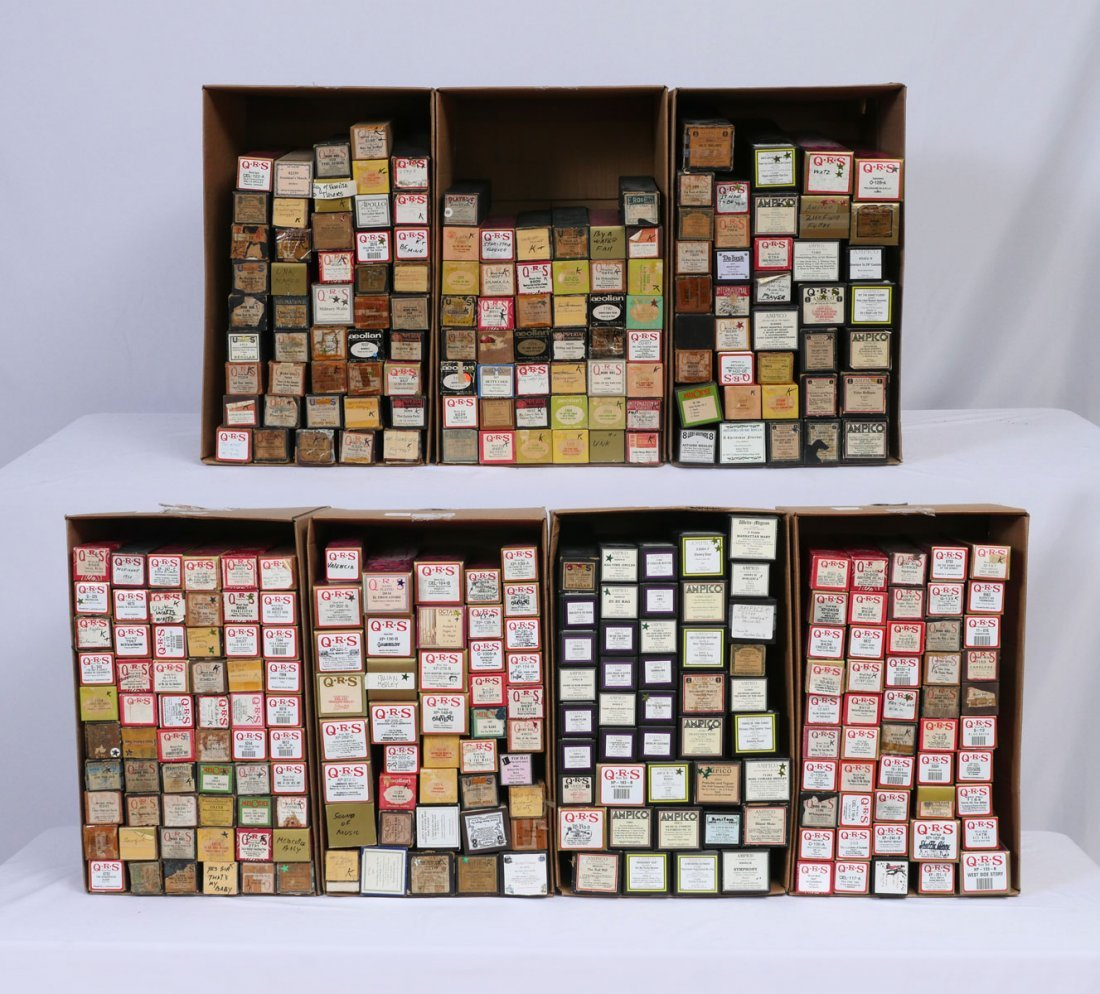 AMPICO AND QRS PLAYER PIANO ROLLS