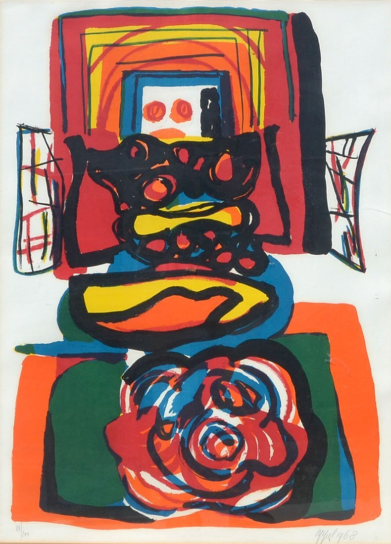 KAREL APPEL ABSTRACT LITHOGRAPH