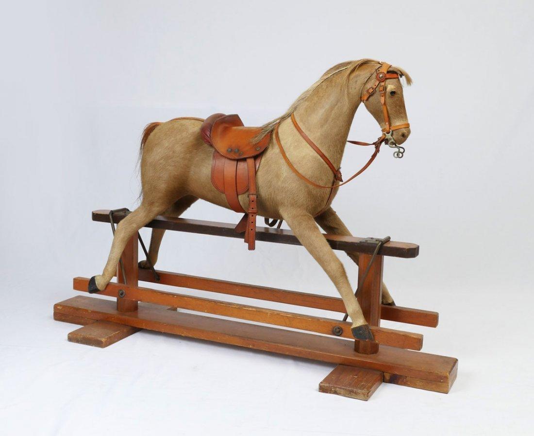 HORSE HAIR ROCKING GLIDER HORSE