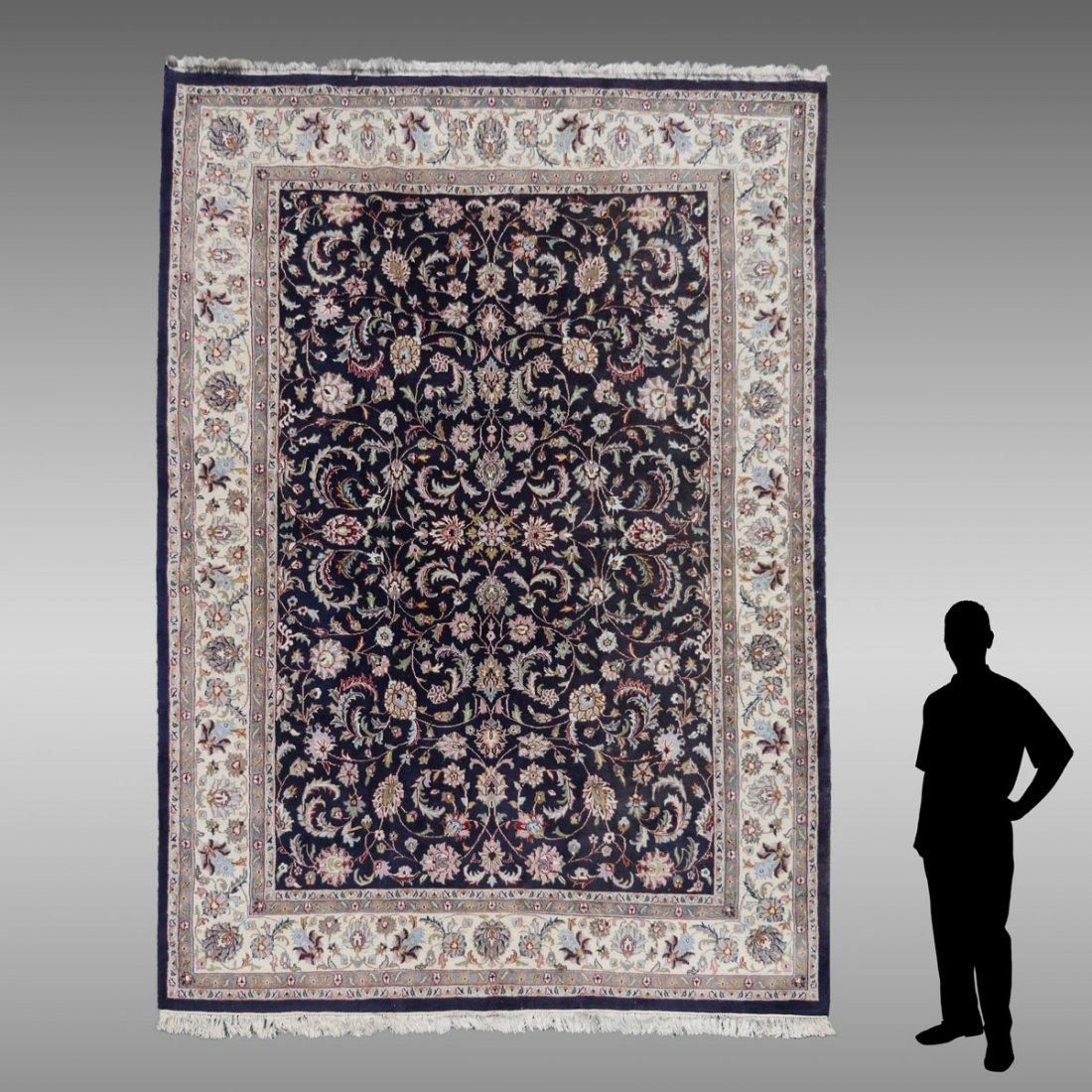 ESTATE INDO-KASHAN ORIENTAL CARPET: 8' 10'' x 11' 10