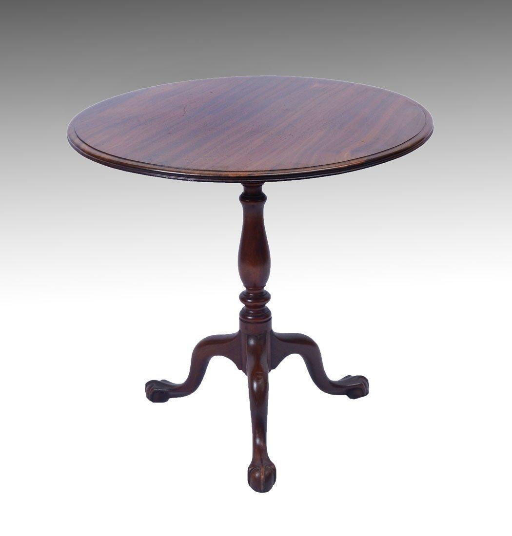 EARLY WALNUT TILT-TOP ROUND TABLE