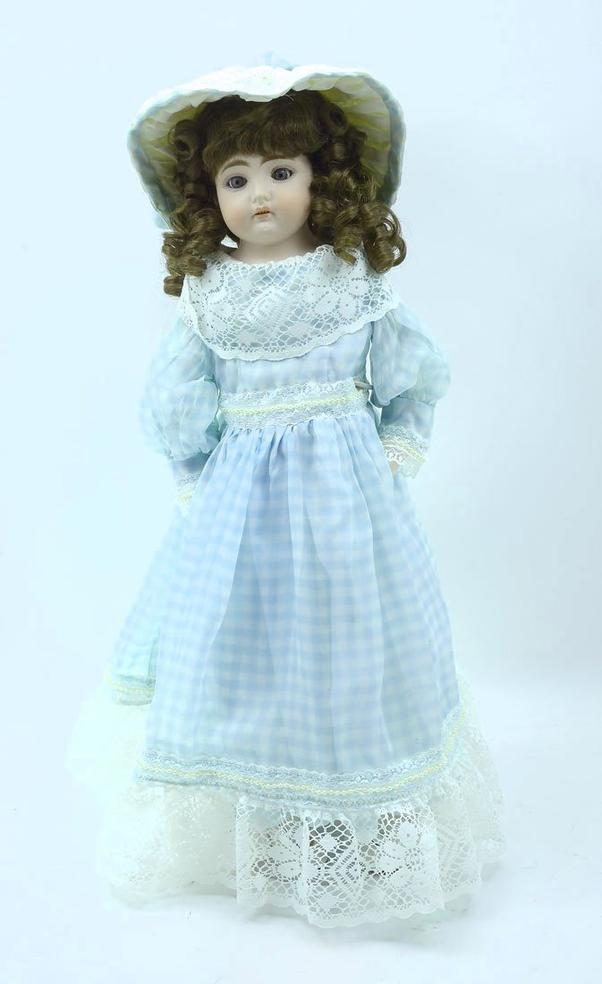 BISQUE HEAD DOLL MARKED DARLING