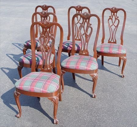 9: 6  ETHAN ALLEN 18TH C MAHOGANY DINING SIDE CHAIRS