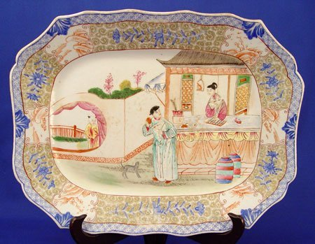 425: RARE 19TH C. CHINESE EXPORT PLATTER