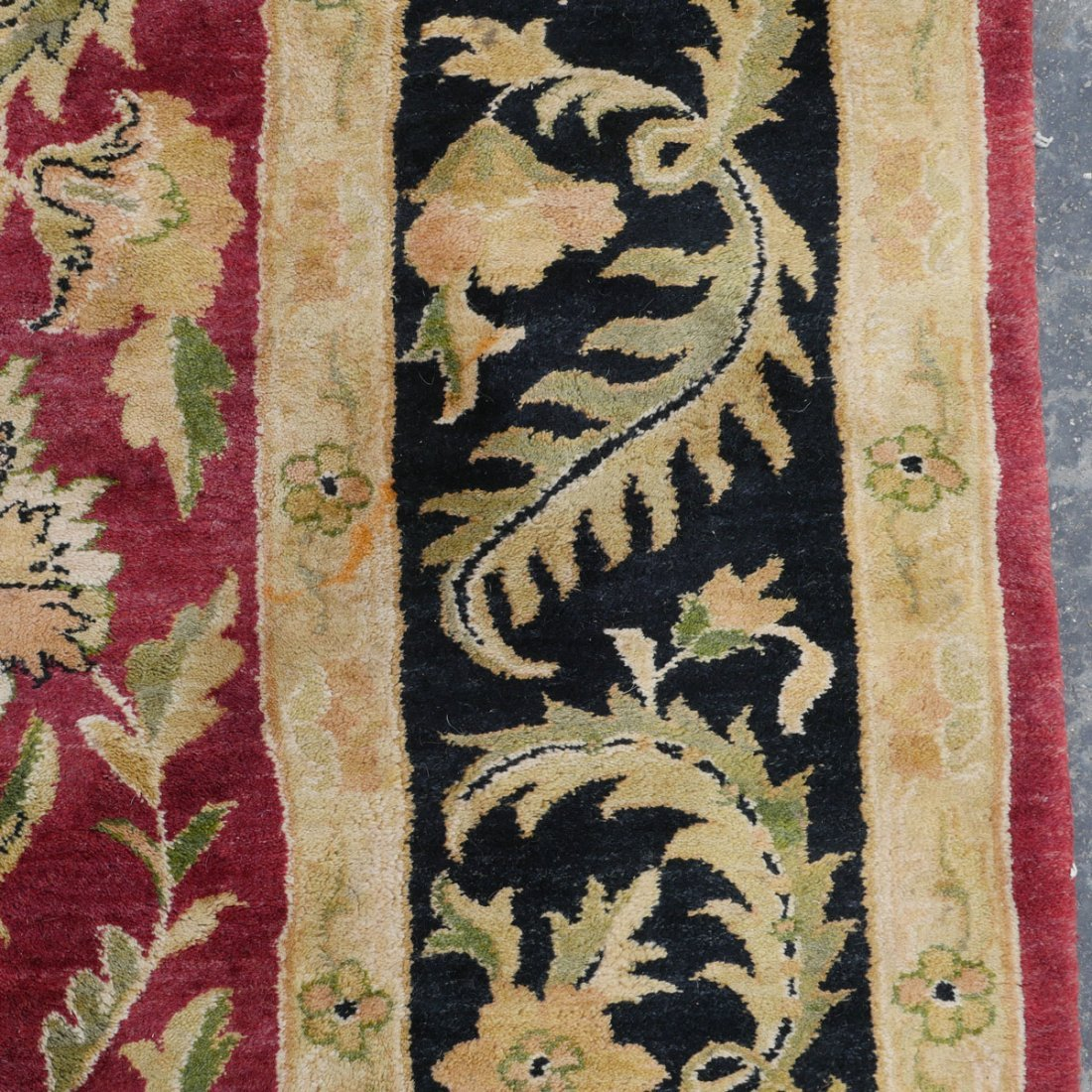 "INDO-TURKISH HK WOOL RUG, 9'1"" X 11'6"" - 5"