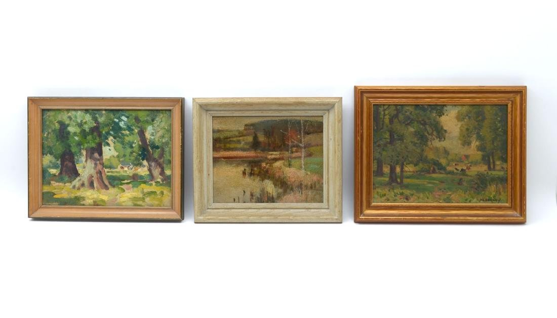 3 F. A. BARNEY OIL PAINTINGS