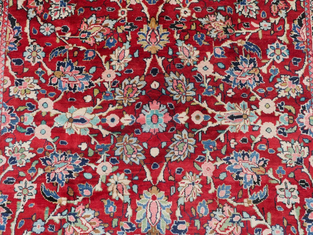 """INDO-PERSIAN SAROUK HAND KNOTTED WOOL RUG, 7.5"""" X 10'6"""" - 2"""