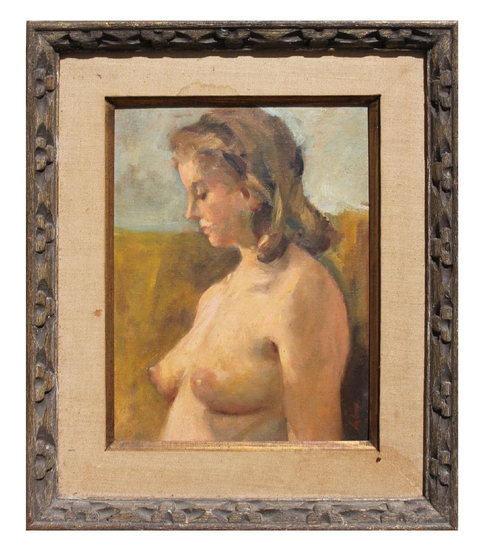 BETTY SCHLEMM YOUNG TOPLESS NUDE PAINTING - 2