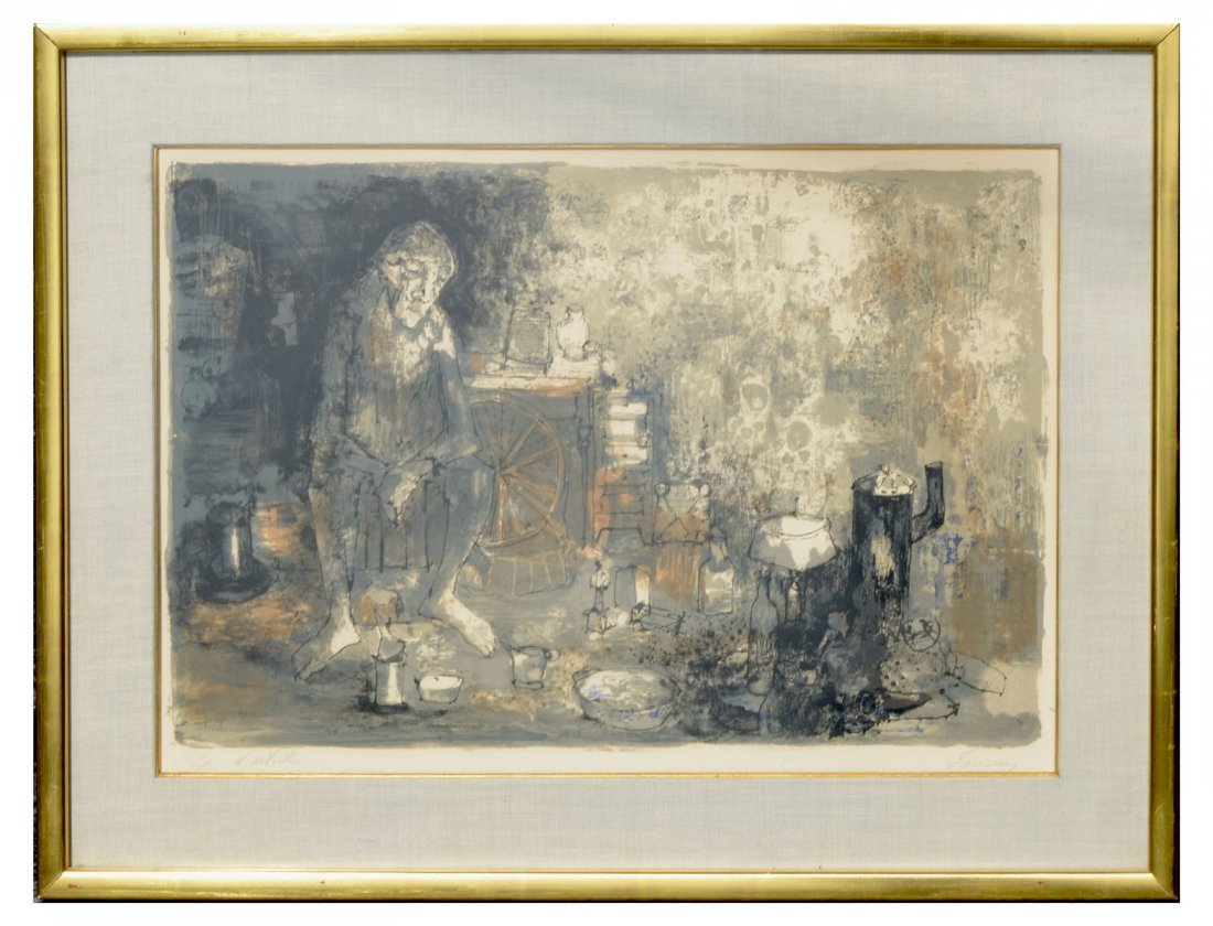 JEAN JANSEM ARTIST PROOF LITHOGRAPH IN COLORS - 2
