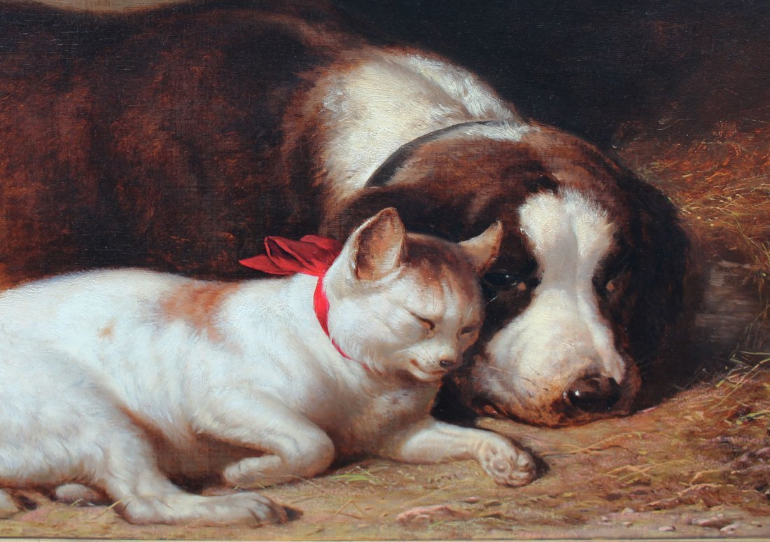 "HENRY COLLINS BISPHAM PAINTING  ""CLOSE FRIENDS"" - 3"