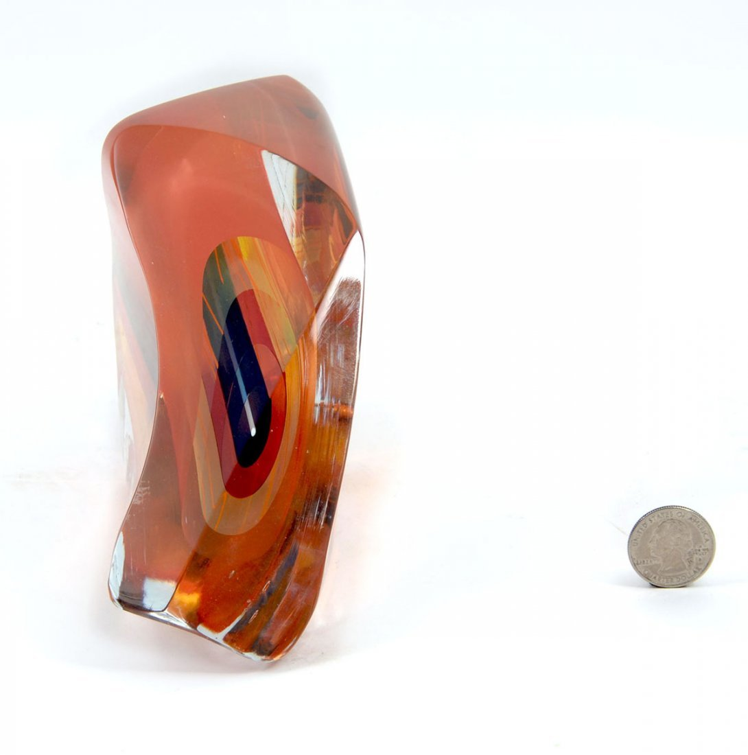 LITTLETON ABSTRACT GLASS SCULPTURE WITH BOOKS - 4