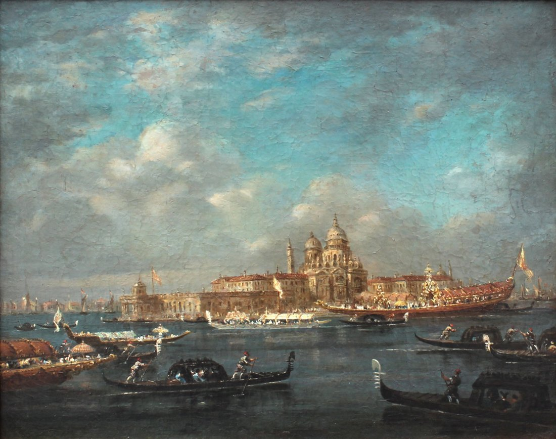 EARLY VENETIAN GRAND CANAL PAINTING GUARADI?