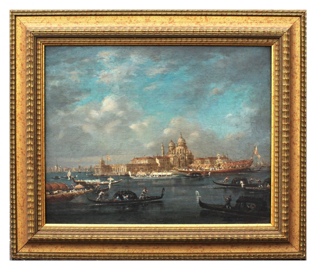 EARLY VENETIAN GRAND CANAL PAINTING GUARADI? - 2