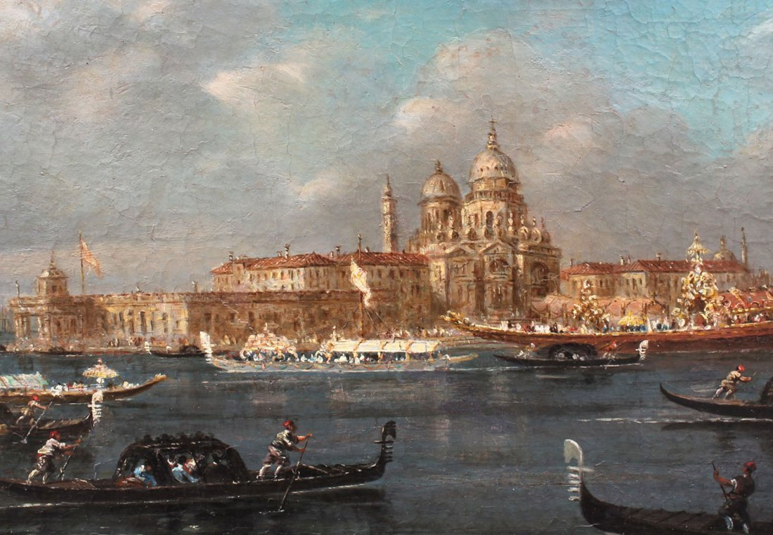EARLY VENETIAN GRAND CANAL PAINTING GUARADI? - 3