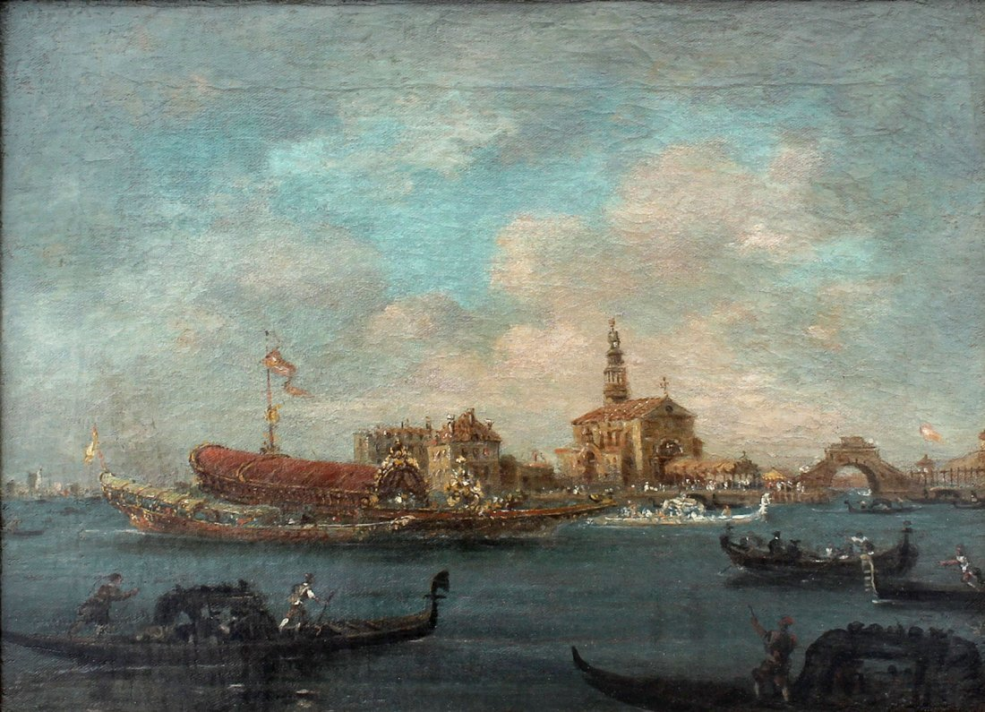 FINE EARLY GRAND CANAL VENICE PAINTING GUARADI?