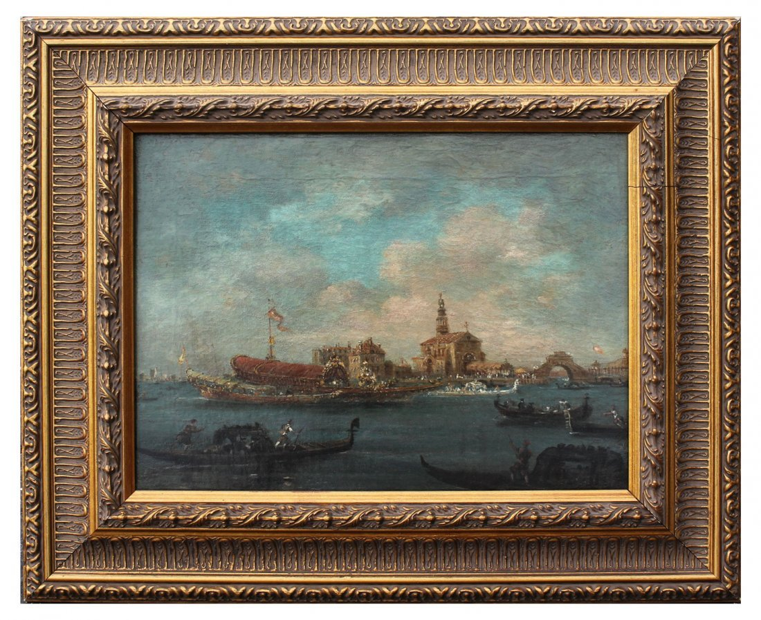 FINE EARLY GRAND CANAL VENICE PAINTING GUARADI? - 2