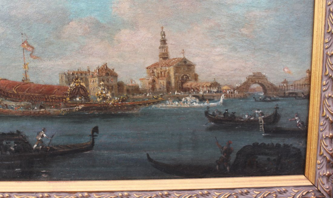 FINE EARLY GRAND CANAL VENICE PAINTING GUARADI? - 3
