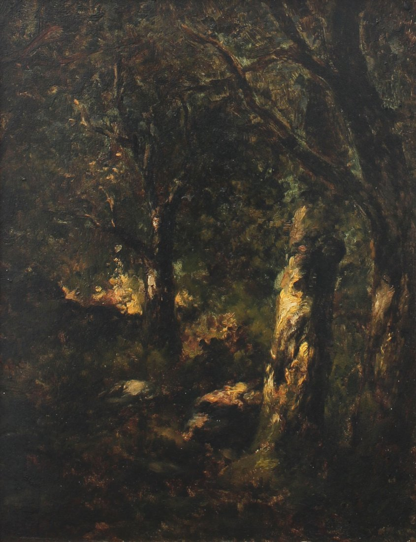 FOREST SCENE ATTRIBUTED TO DIAZ DE LA PENA PAINTING