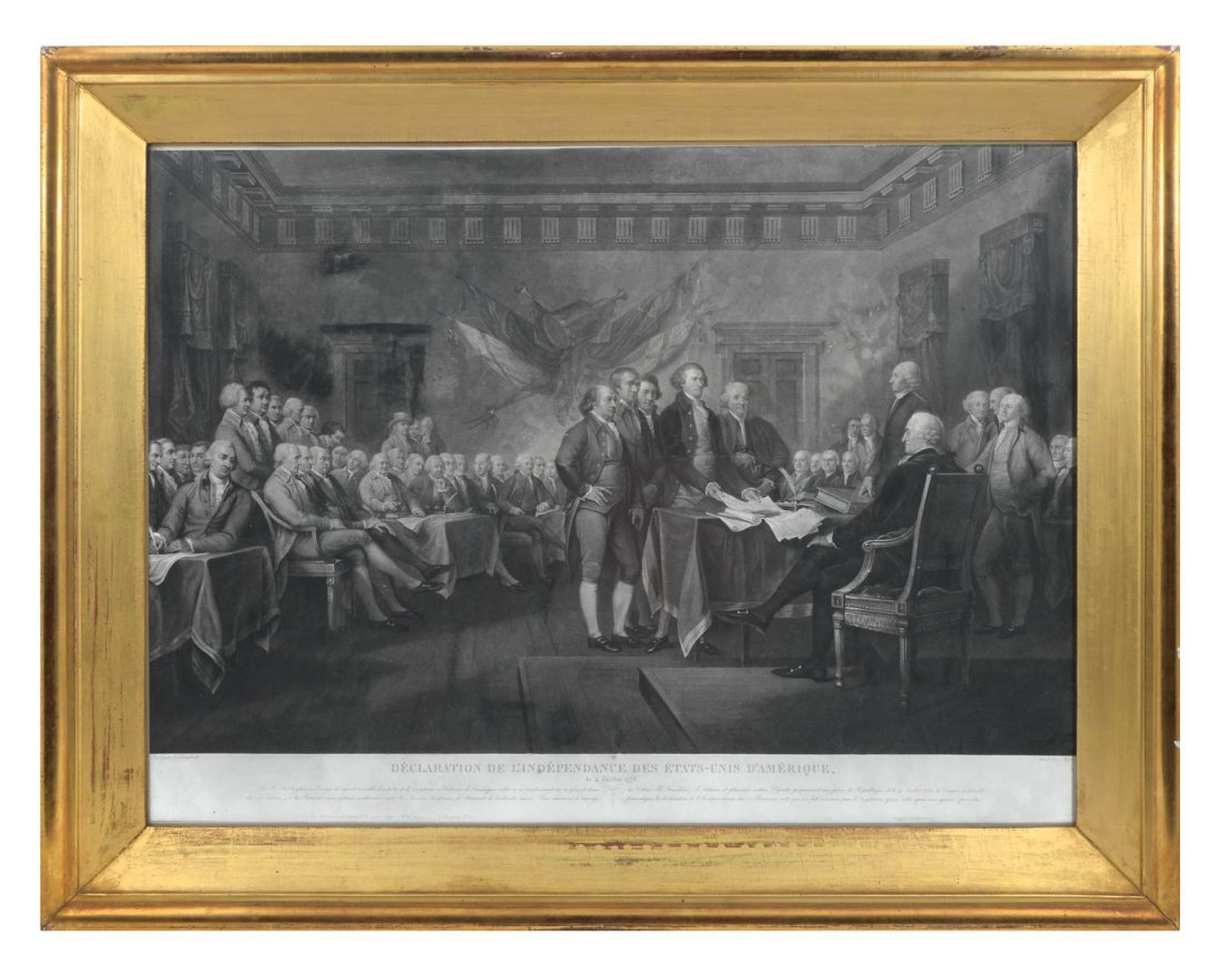ENGRAVING OF SIGNING OF THE DECLARATION OF INDEPENDENCE - 2