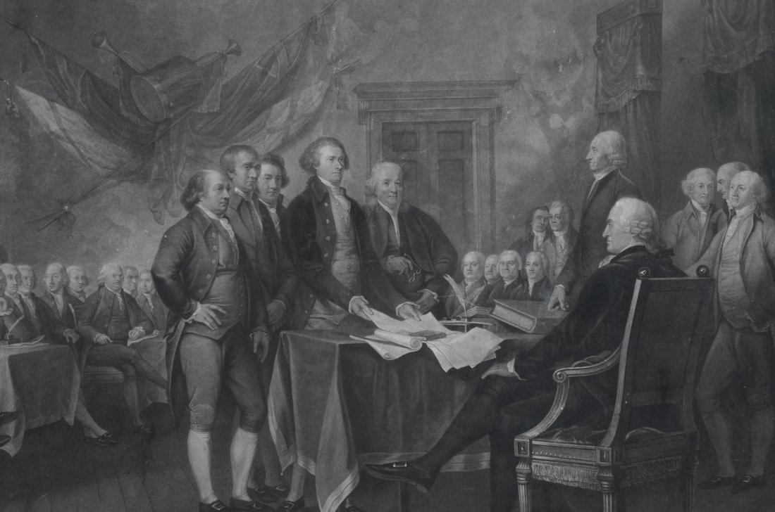 ENGRAVING OF SIGNING OF THE DECLARATION OF INDEPENDENCE - 3