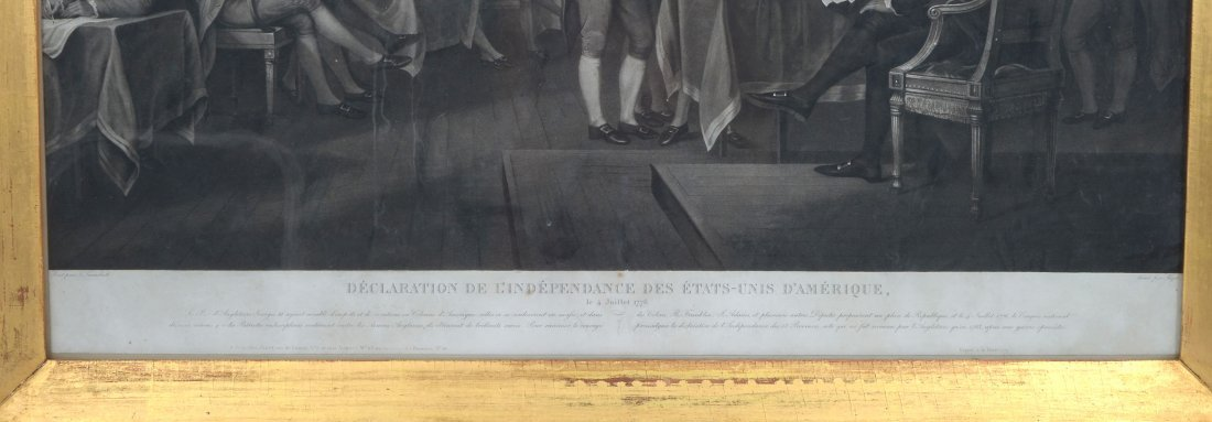 ENGRAVING OF SIGNING OF THE DECLARATION OF INDEPENDENCE - 4