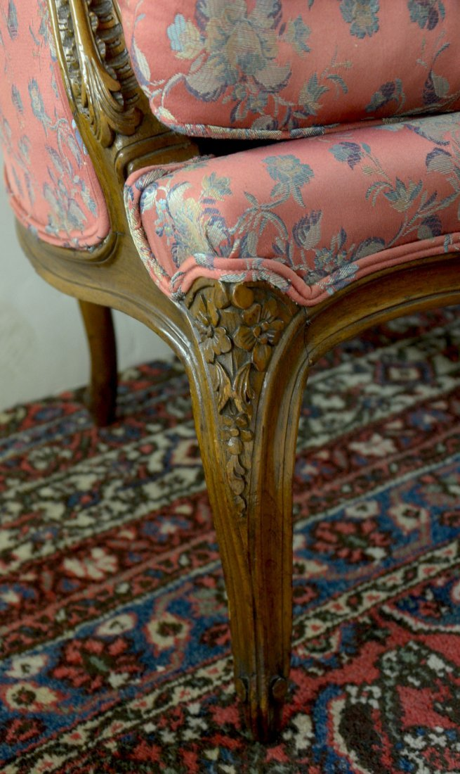 CARVED FRENCH LOVE SEAT - 3
