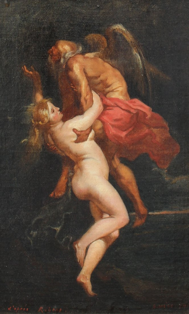 SALVADOR MEGE OLD MASTER STYLE PAINTING AFTER RUBENS