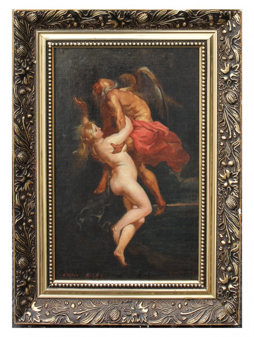 SALVADOR MEGE OLD MASTER STYLE PAINTING AFTER RUBENS - 2