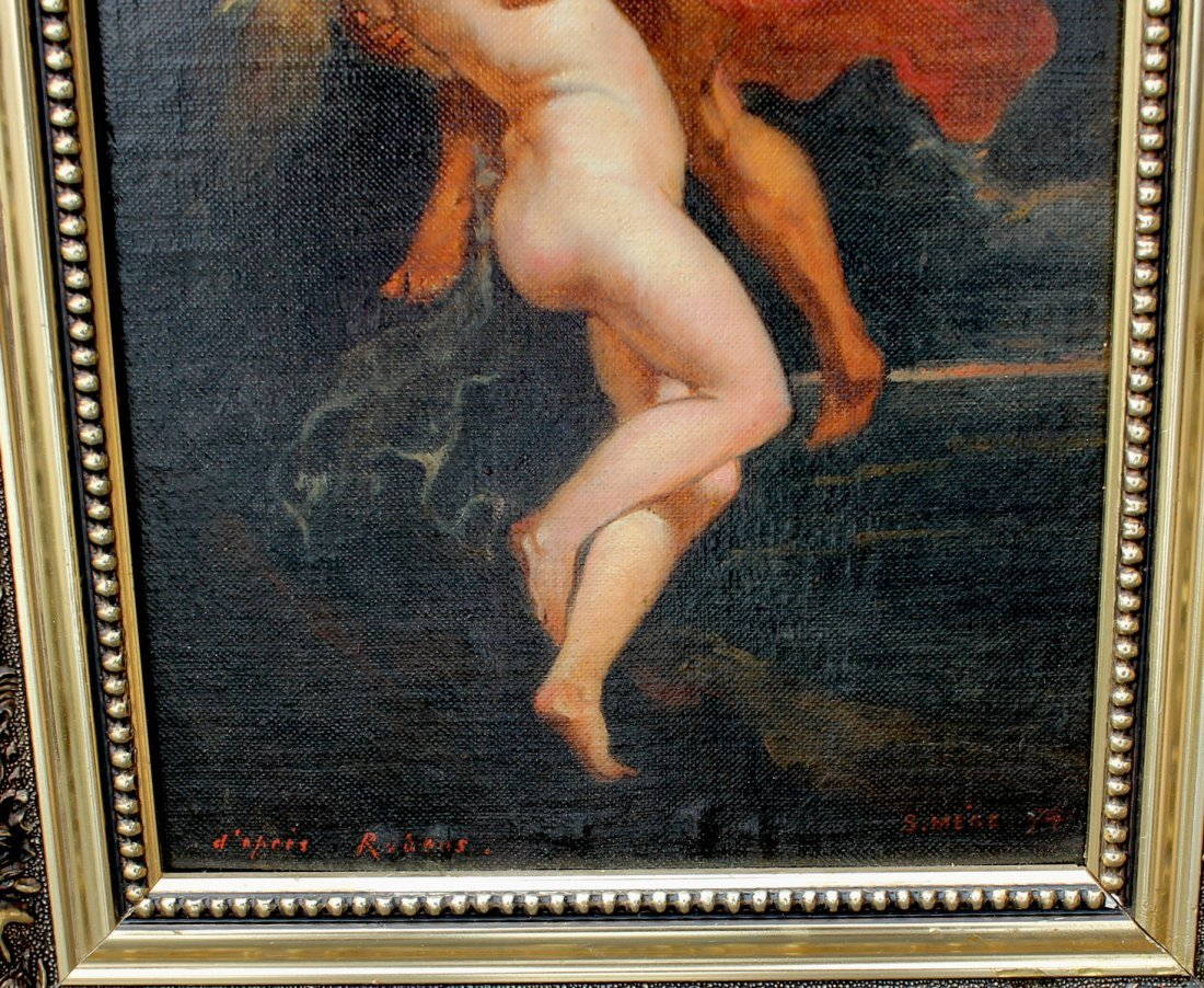 SALVADOR MEGE OLD MASTER STYLE PAINTING AFTER RUBENS - 3