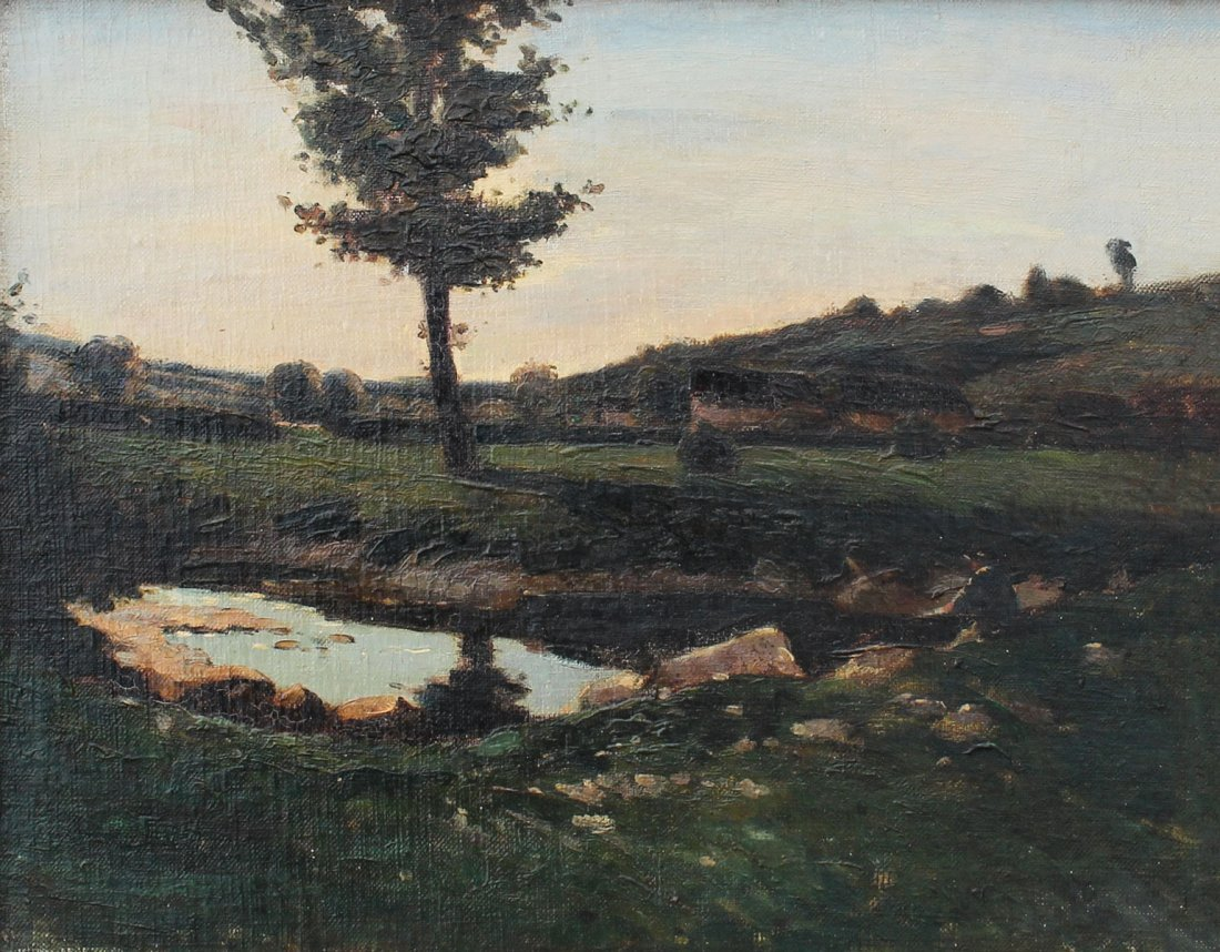GOOD UNSIGNED 19TH CENTURY LANDSCAPE PAINTING