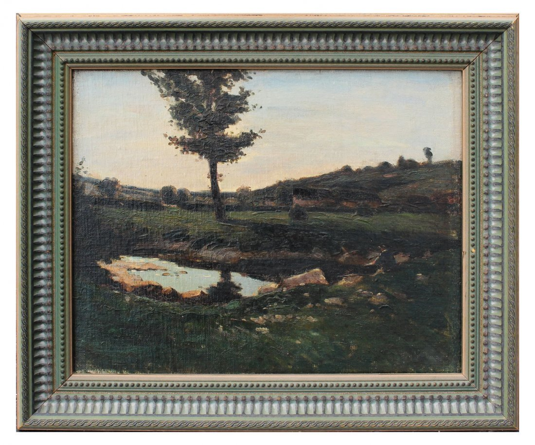 GOOD UNSIGNED 19TH CENTURY LANDSCAPE PAINTING - 2