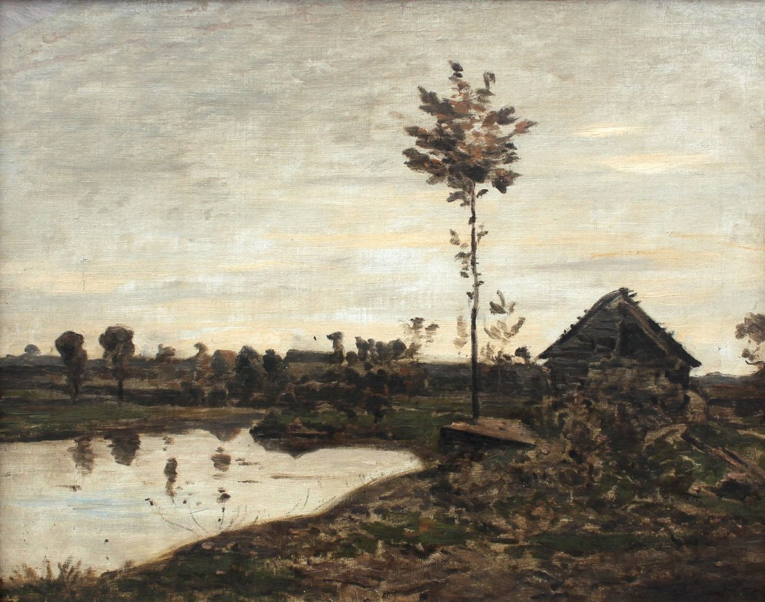 BARBAZON STYLE LANDSCAPE ATTRIBUTED TO HARPIGNIES
