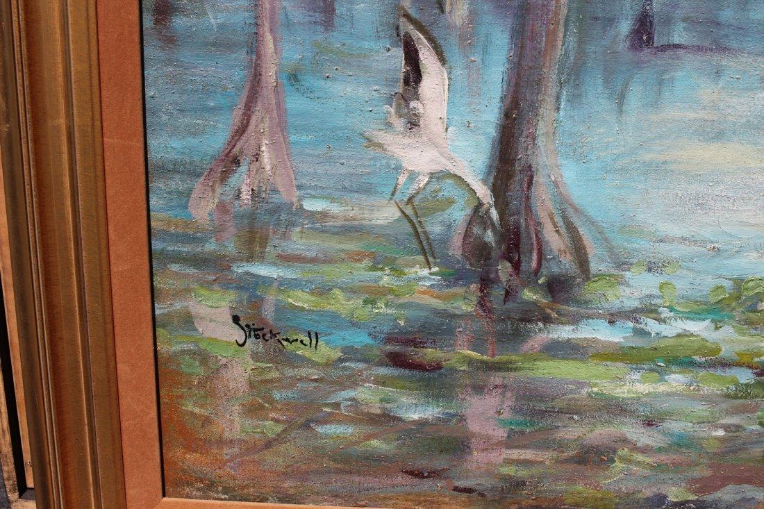 LARGE CATHERINE STOCKWELL FLORIDA SWAMP PAINTING - 3