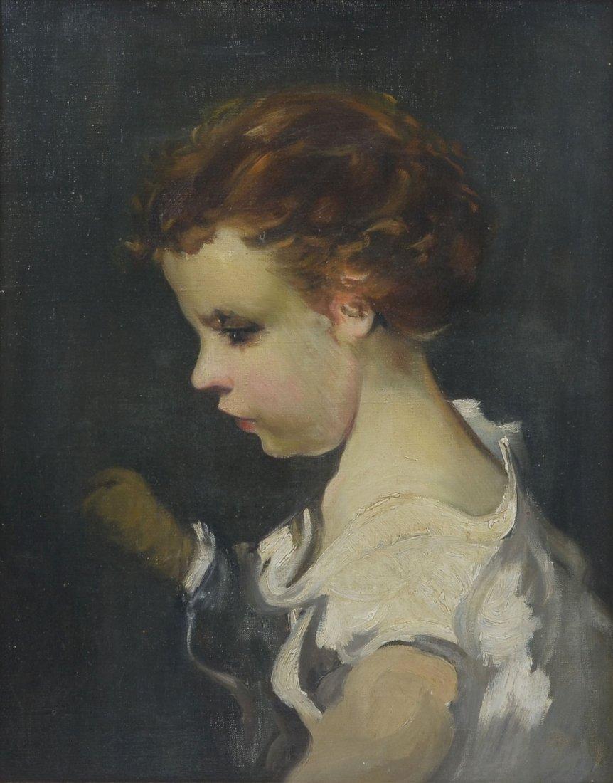 JOSE SANZ PORTRAIT PAINTING OF AN INFANT