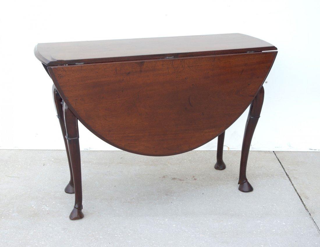 18TH CENTURY DUTCH QUEEN ANNE MAHOGANY DROP-LEAF TABLE - 2