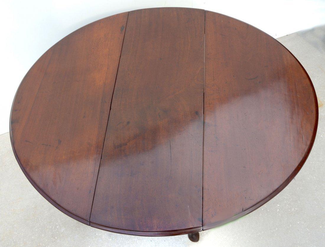 18TH CENTURY DUTCH QUEEN ANNE MAHOGANY DROP-LEAF TABLE - 3