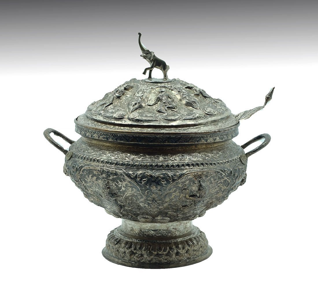 ORNATE SOUTHEAST ASIAN COVERED TUREEN