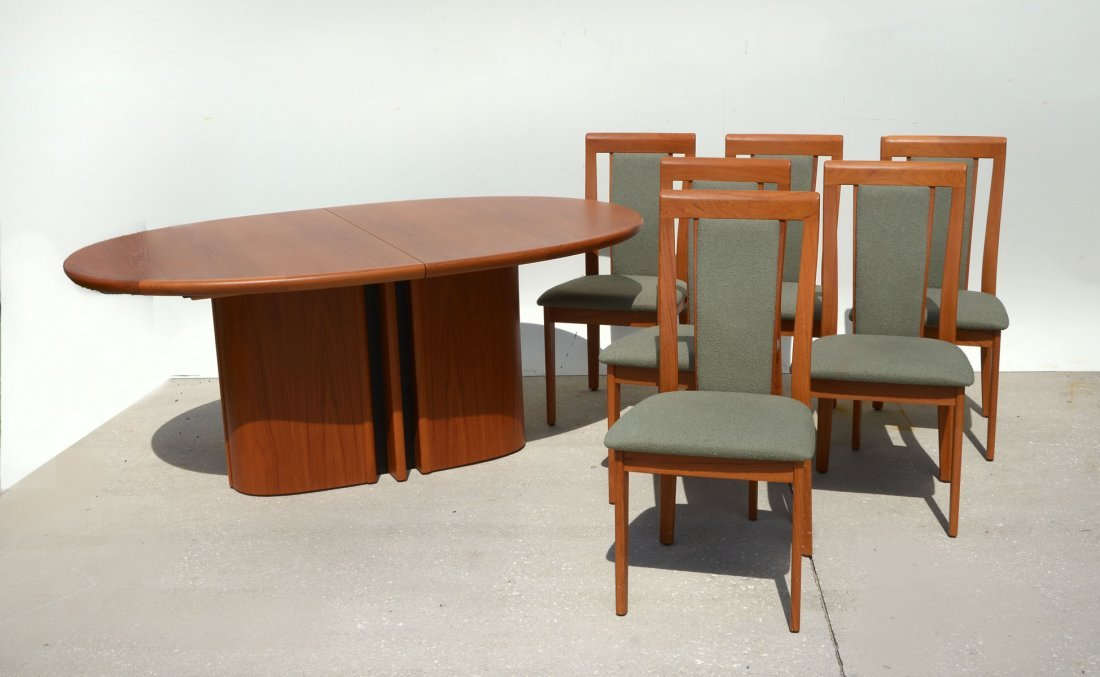DANISH DINING TABLE & 6 CHAIRS